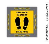 social distancing. footprint...   Shutterstock .eps vector #1726898995