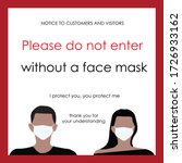 wear face mask sign and symbol. ... | Shutterstock .eps vector #1726933162