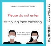 wear face mask sign and symbol. ... | Shutterstock .eps vector #1726951912