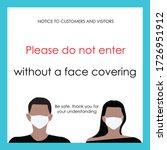 warning sign for coronavirus.... | Shutterstock .eps vector #1726951912