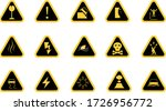 caution and warning sign  icons ... | Shutterstock .eps vector #1726956772