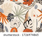 hand drawn abstract jungle... | Shutterstock .eps vector #1726974865