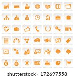 business icons on a notepaper 2. | Shutterstock .eps vector #172697558