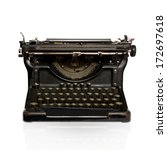 black retro typewriter | Shutterstock . vector #172697618