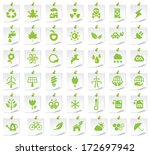 Ecology Icons On A Notepaper 1.