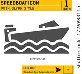 powerboat premium icon with...