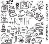 architect doodle profession... | Shutterstock .eps vector #1726985905