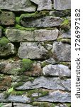 Old Stone Wall With Moss