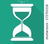 sand clock icon. glass timer...   Shutterstock .eps vector #172701218