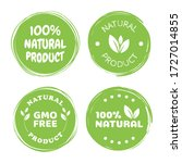 100  natural product. green... | Shutterstock .eps vector #1727014855