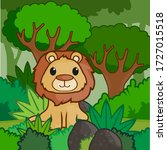 Lion In Jungle Background ...
