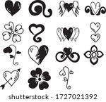 a set of heart icons suitable... | Shutterstock .eps vector #1727021392