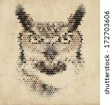 vintage geometric owl design | Shutterstock .eps vector #172703606