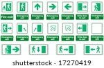 emergency exit sign vector pack ... | Shutterstock .eps vector #17270419