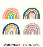set of rainbow color... | Shutterstock .eps vector #1727072848
