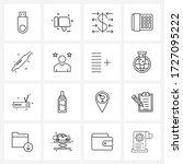 16 editable vector line icons...