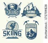 set of nordic skiing and... | Shutterstock .eps vector #172709828