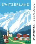 Switzerland Travel Retro Poster ...