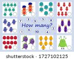 mini games collection for kids. ... | Shutterstock .eps vector #1727102125
