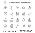 simple set of antibody test kit ... | Shutterstock .eps vector #1727133865