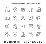 simple set of discount related... | Shutterstock .eps vector #1727133868