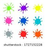 paint splatters. vector... | Shutterstock .eps vector #1727152228