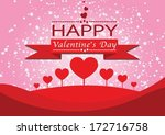 happy valentine's day greeting... | Shutterstock .eps vector #172716758