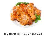 Raw Chicken Marinated Drumstic...