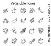 vegetable icons set in thin... | Shutterstock .eps vector #1727169775