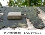Heavy Paving Stone Seen Laid On ...