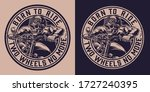 vintage motorcycle monochrome... | Shutterstock .eps vector #1727240395