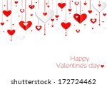 Seamless hearts pattern.Happy valentines day card. border design.vector | Shutterstock vector #172724462