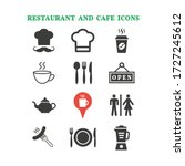 restaurant and cafe icons set... | Shutterstock .eps vector #1727245612
