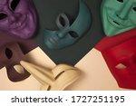 Multi Colored Venetian Masks O...
