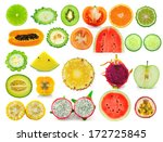 fruit slice collection isolated ... | Shutterstock . vector #172725845