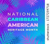 national caribbean heritage... | Shutterstock .eps vector #1727259718