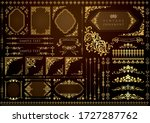 vintage floral design elements. ... | Shutterstock .eps vector #1727287762
