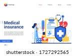 online medical insurance vector ... | Shutterstock .eps vector #1727292565