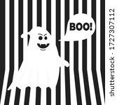 boo ghost halloween message...   Shutterstock .eps vector #1727307112