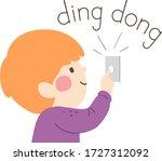 illustration of a kid boy... | Shutterstock .eps vector #1727312092