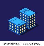 a smart 3d illustration city... | Shutterstock .eps vector #1727351902