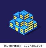 a smart 3d illustration city... | Shutterstock .eps vector #1727351905