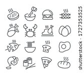 set of food or cooking icon... | Shutterstock .eps vector #1727353525
