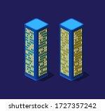 a smart 3d illustration city... | Shutterstock .eps vector #1727357242