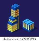 a smart 3d illustration city... | Shutterstock .eps vector #1727357245