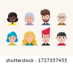 cute avatar set isolated on...   Shutterstock .eps vector #1727357455