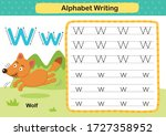 Alphabet Letter W Wolf Exercise ...