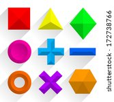 polygonal colorful shapes.... | Shutterstock .eps vector #172738766