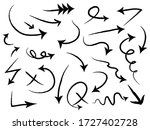 hand drawn arrows icons set.... | Shutterstock .eps vector #1727402728