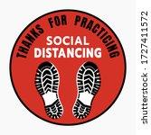 thanks for practicing social... | Shutterstock .eps vector #1727411572